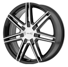 Helo Wheels <br />HE884 Gloss Black w/ Machined Face