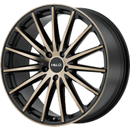 Helo Wheels<br /> HE894 Satin Black w/ Machined Face