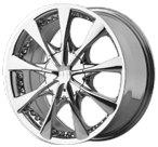 Helo Wheels<br /> HE827 Chrome