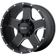Helo Wheels <br />HE886 Satin Black With Milled Spokes And Flange