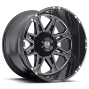 Hostile Wheels<br> Havoc Blade Cut Black Satin w/ Mill Cut