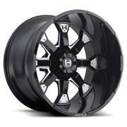 Hostile Wheels<br> Knuckles Blade Cut Black Satin w/ Mill Cut