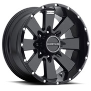 Hostile Wheels<br> Moab Asphalt Black Satin