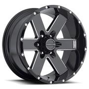 Hostile Wheels<br> Moab Blade Cut Black Satin w/ Mill Cut
