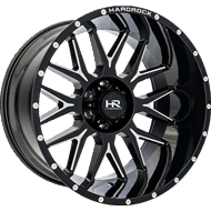 Hardrock H500 Gloss Black Milled Wheels
