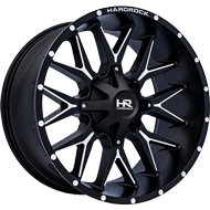 Hardrock H700 Satin Black Milled Wheels