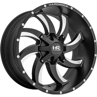Hardrock H701 Satin Black w/ Milled Window Wheels