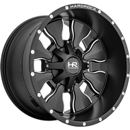 Hardrock H702 Satin Black Milled Wheels