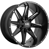 Hardrock H703 Satin Black w/ Milled Window Wheels