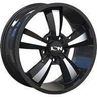 Ion Wheels<br/> 102 Gloss Black with Machined Face