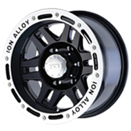 Ion Wheels<br/> 133 Black with Machined Beadlock Lip