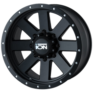Ion Wheels<br/> 134 Matte Black with Black Beadlock Lip