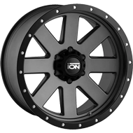 Ion Wheels<br/> 134 Matte Gunmetal with Black Beadlock Lip