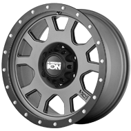 Ion Wheels<br> 135 Matte Gunmetal/Black Beadlock