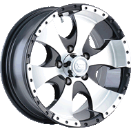 Ion Wheels<br/> 136 Black with Machined Face and Lip