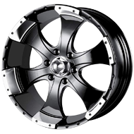 Ion Trailer Wheels<br/> 136 Black with Machined Lip
