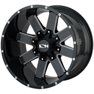 Ion Wheels<br/> 141 Gloss Black with Milled Spokes