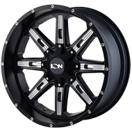 Ion Wheels<br> 184 Satin Black/Milled Spokes