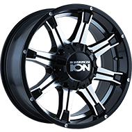 Ion Wheels<br> 196 Black with Machined Face