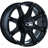 Ion Wheels<br> 196 Matte Black/Machined Undercut