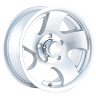 Ion Trailer Wheels<br/> 10 Machined/Silver Window