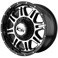 Ion Wheels<br> 186 Black with Machined Face