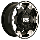 Ion Wheels<br> 194 Black with Machined Accents