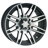 ITP SS Alloy 316 Black Machined Wheels