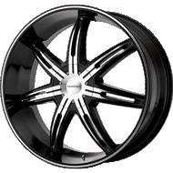 KMC KM665 Surge Gloss Black Machined Wheels
