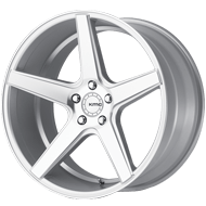 KMC Wheels <br />KM685 District Silver with Machined Face