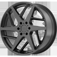 KMC KM699 Satin Black Wheels