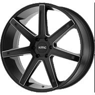 KMC KM700 <br/> Satin Black Milled