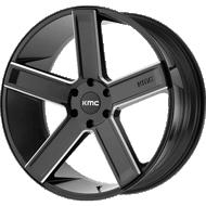 KMC KM702 Satin Black Milled Wheels