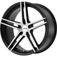 KMC KM703 Satin Black Brushed Wheels