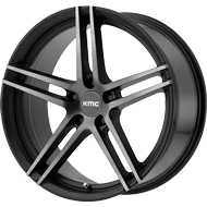 KMC KM703 <br/> Satin Black Machined with Satin Grey Tinted Clear Coat