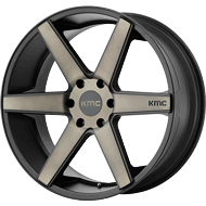 KMC KM704 <br/> Satin Black Machined with Dark Tint Clear Coat