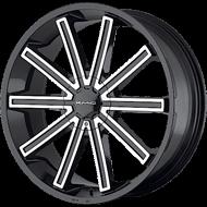 KMC KM681 Nerve Gloss Black Machined Wheels
