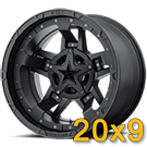 KMC Rockstar RS3 Matte Black With Black Accents<br /> 20x9