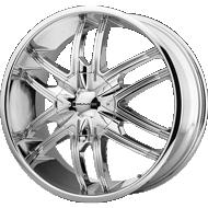 KMC KM678 Splinter Chrome Wheels
