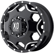 XD814 Crux Dually Wheels <br> Gloss Black