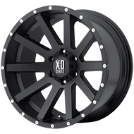 XD818 Heist Wheels <br> Satin Black Milled