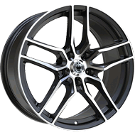 Konig Wheels <br/>49MB Intention Gloss Black with Machined Face