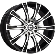 Konig Wheels <br/>50MB Crown Gloss Black with Machined Face