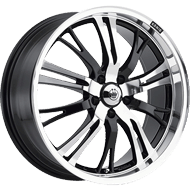 Konig Wheels <br />Unknown High Gloss Black <br />w/ Mirror Machine Face