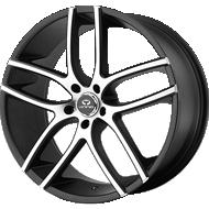 Lorenzo Wheels<br> WL035 Satin Black W/ Machined Face