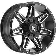 LRG Burst Matte Black Machined Wheels