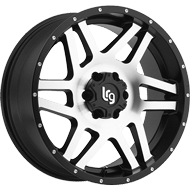 LRG Classico Machined Black Wheels