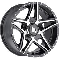 LRG Wheels <br>Pike Black Machined