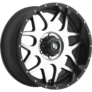 LRG Splits Satin Black Machined Wheels