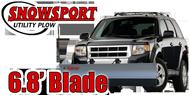 SnowSport LT <br>Light Utility Snow Plow <br> 6.8' Blade